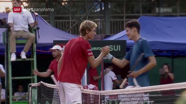 Video «Bellier rettet Schweizer Davis-Cup-Team» abspielen