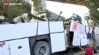 Video «Schweres Busunglück in Italien fordert 38 Opfer» abspielen
