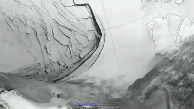 Eisabbruch in der Beaufort See (ohne Ton)
