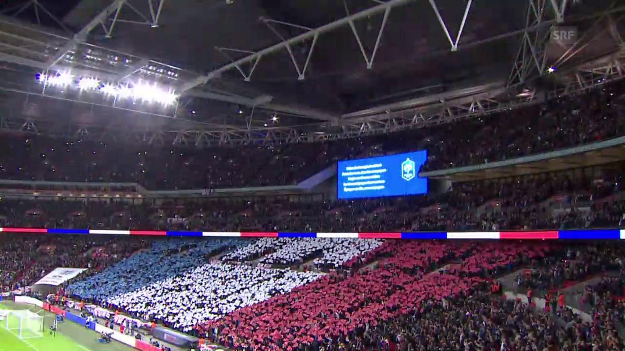 Fussball: Länderspiel England - Frankreich