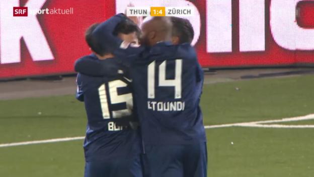 Video «Fussball: Schweizer Cup, Viertelfinal, Thun - Zürich» abspielen