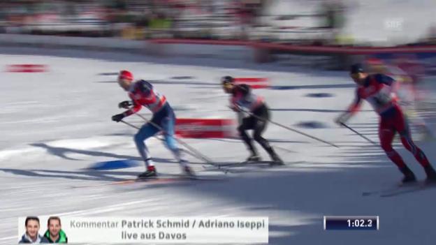 Video «Ski nordisch: Langlauf-Weltcup in Davos, Sprint, Roman Schaad» abspielen