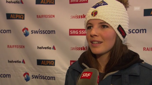 Video «Schladming: 3 Fragen an Tina Weirather» abspielen