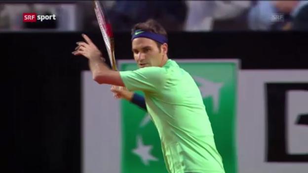 Video «Federer steht im Rom-Final («sportaktuell»)» abspielen