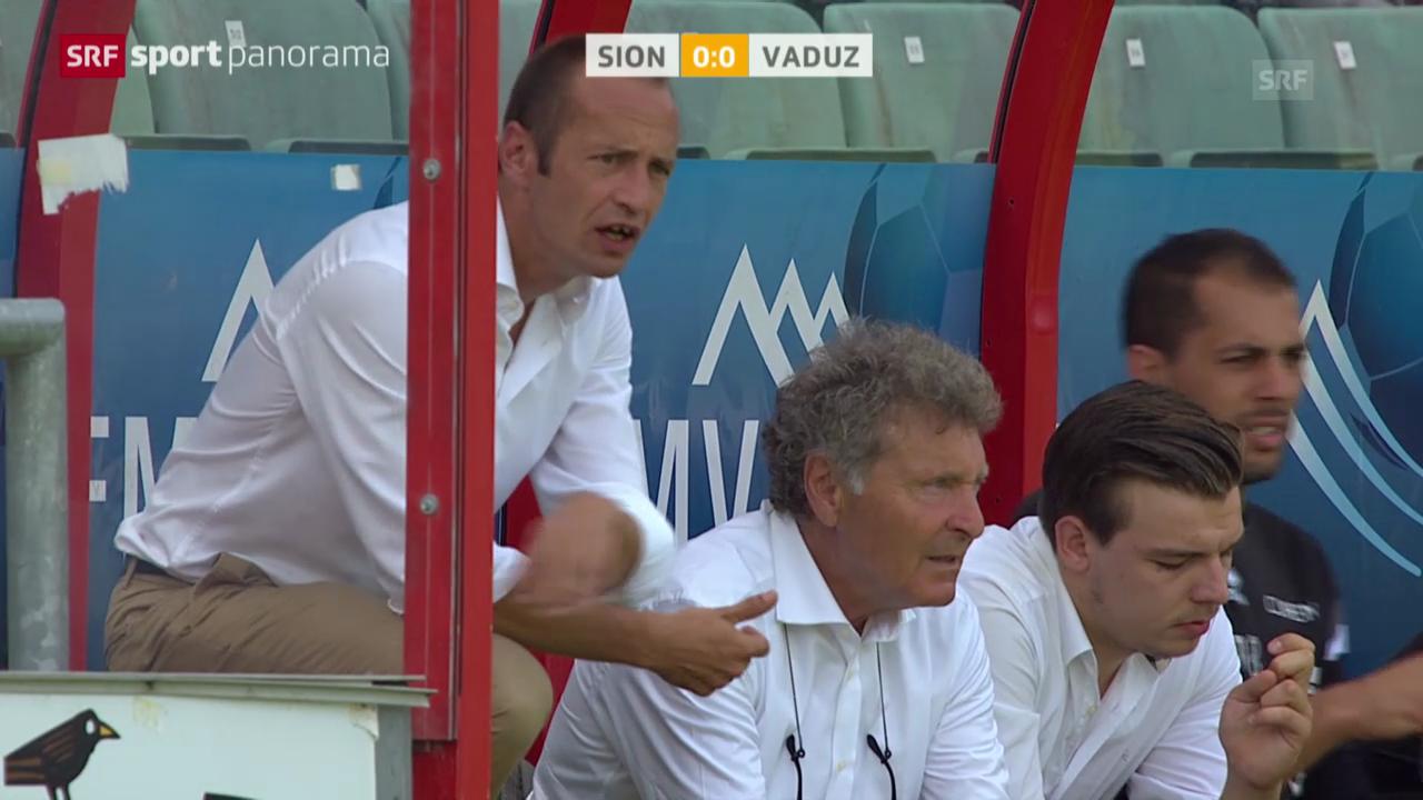 Fussball: Super League, Sion - Vaduz
