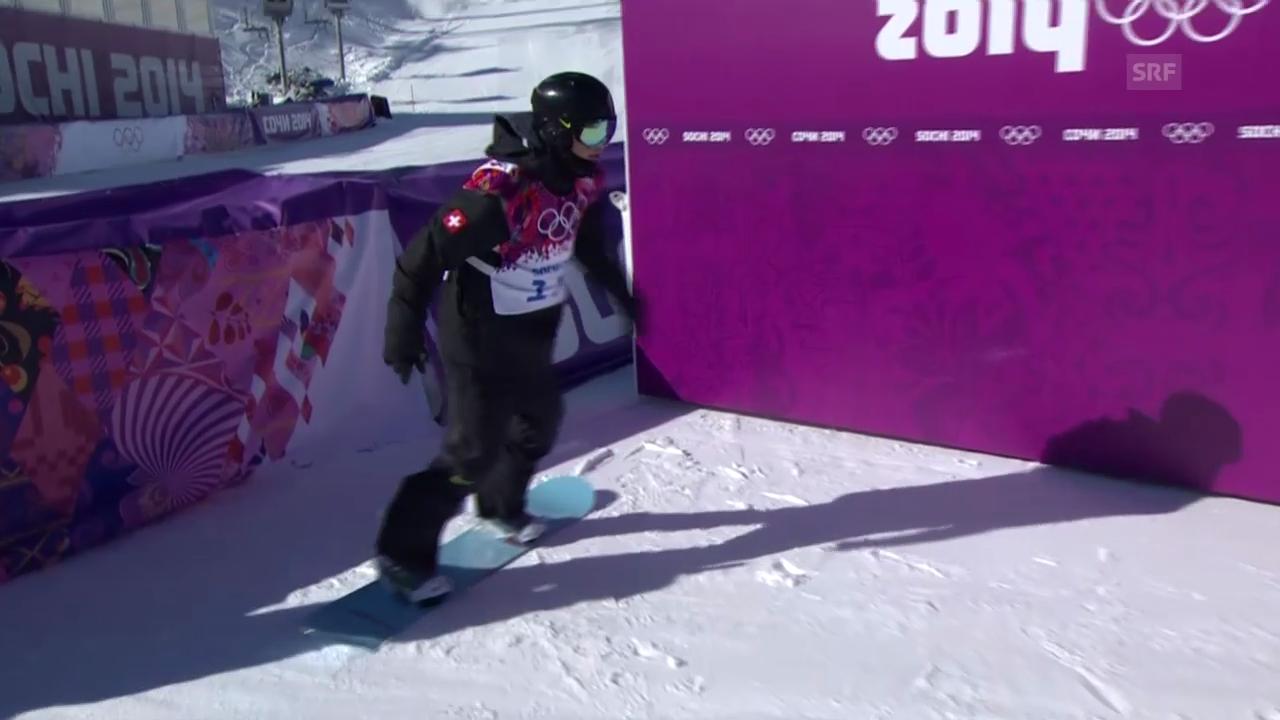 Sotschi: Snowboard Slopestyle Männer, Qualifikation, 1. Lauf Jan Scherrer