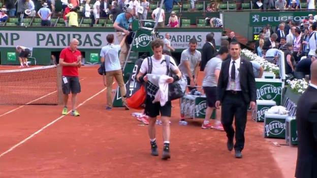 Video «Tennis: French Open Halbfinal, Matchabbruch bei Djokovic - Murray» abspielen