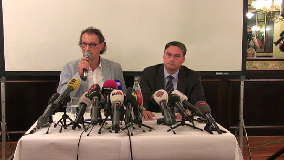 Geri Müllers Auftritt vor den Medien