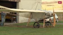 Link öffnet eine Lightbox. Video Flugzeug aus dem Jahr 1913 nachgebaut abspielen
