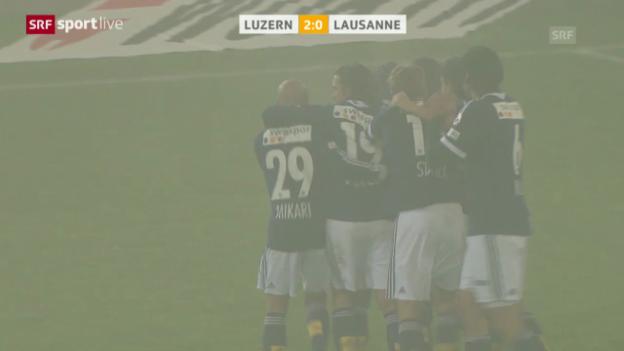 Video «Fussball: Cup-Viertelfinal, Luzern - Lausanne («sportlive»)» abspielen