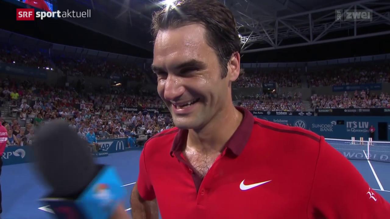Tennis: ATP-Turnier in Brisbane, Viertelfinal: Dochworth - Federer