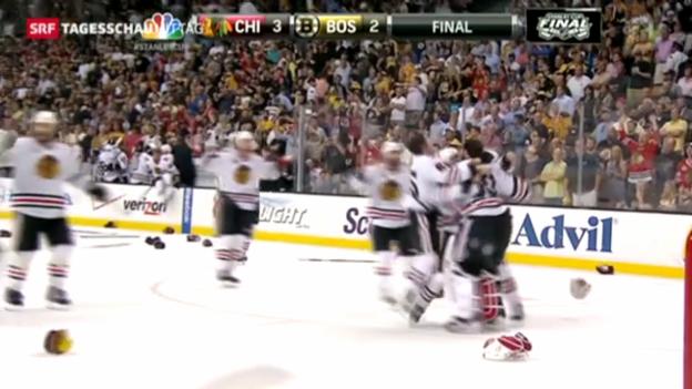 Video «Chicago Blackhawks gewinnen Stanley Cup» abspielen
