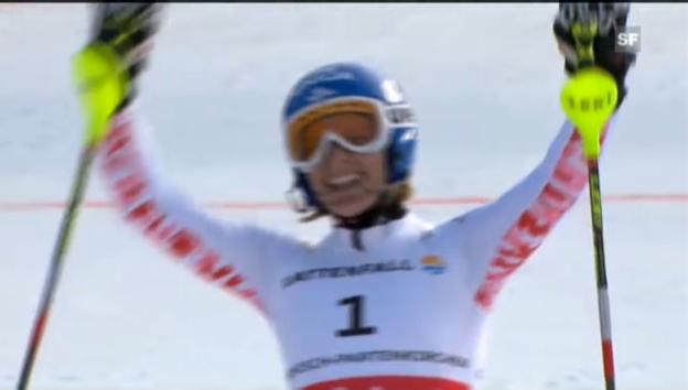 Video «Ski-WM: Frauen-Slalom, Zusammenfassung» abspielen