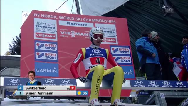 Skispringen: Simon Ammann im WM-Teamspringen