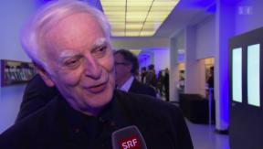 Video «Schweizer Literaturpreis: Alain Berset ehrt Adolf Muschg» abspielen