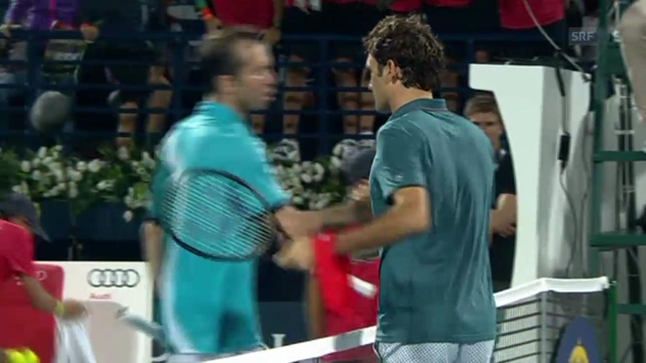 Federer-Stepanek: Der Matchball (Quelle: SNTV, 26.02.2014)