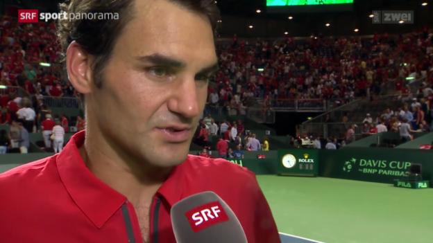 Video «Tennis: Davis Cup, Reaktionen» abspielen