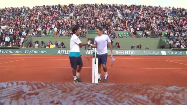 Video «Federer - Devvarman: Wichtigste Ballwechsel» abspielen