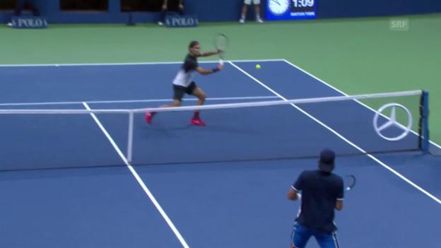 Video «Federer lässt Lopez keine Chance» abspielen
