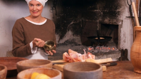 Mittelalter in der Schweiz: Essen im Schloss Lenzburg (4/5)