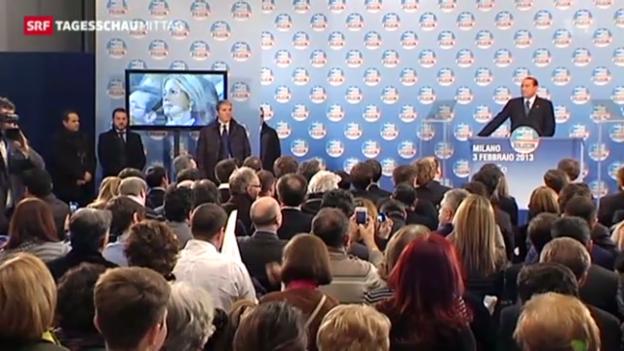 Video «Berlusconis Partei holt auf» abspielen