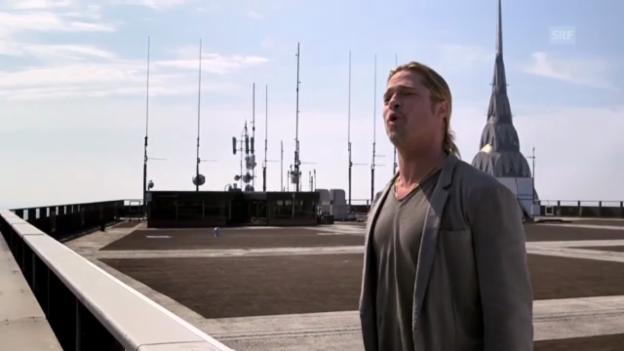 Video «Brad Pitt wirbt jodelnd für «World War Z»» abspielen