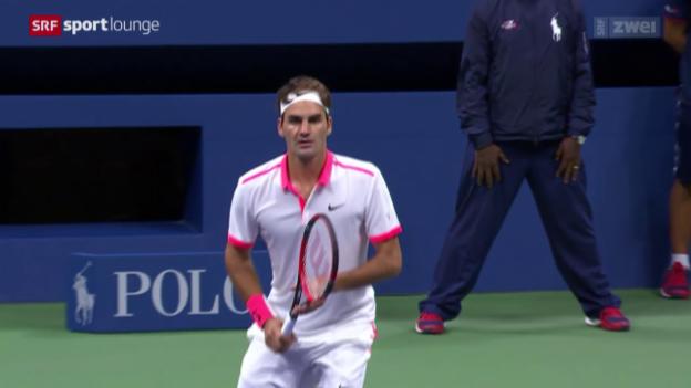 Video «Tennis – Roger Federer verliert einen hochstehenden Final» abspielen