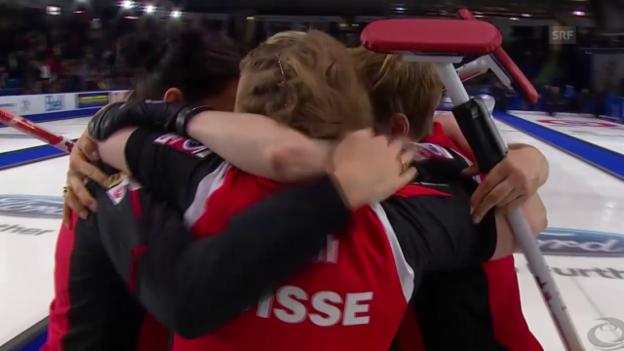 Video «Schweizer Curlerinnen holen WM-Gold» abspielen