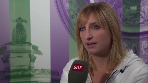 Video «Tennis: Wimbledon 2015, Interview Bacsinszky nach Viertelfinal-Out» abspielen