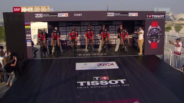 Video «BMC verpasst Hattrick im Mannschaftszeitfahren knapp» abspielen