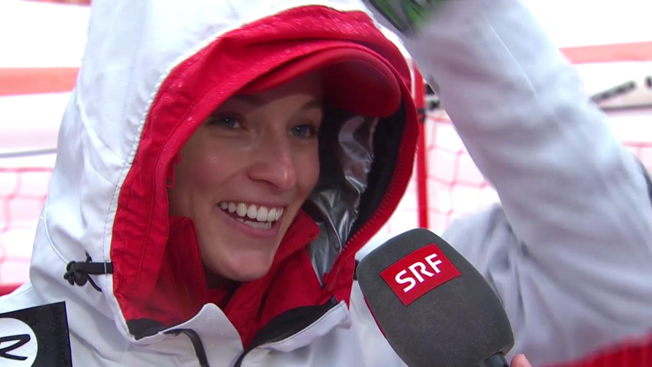 Ski: Riesenslalom Frauen, Interview mit Lara Gut (sotschi direkt, 18.2.2014)