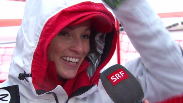 Video «Ski: Riesenslalom Frauen, Interview mit Lara Gut (sotschi direkt, 18.2.2014)» abspielen