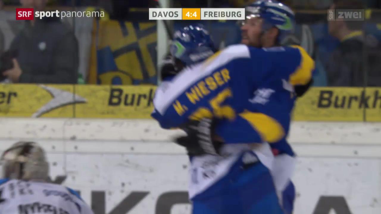 Eishockey: Davos - Freiburg