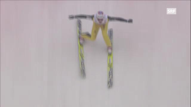Skispringen: 2. Sprung von Simon Ammann in Innsbruck
