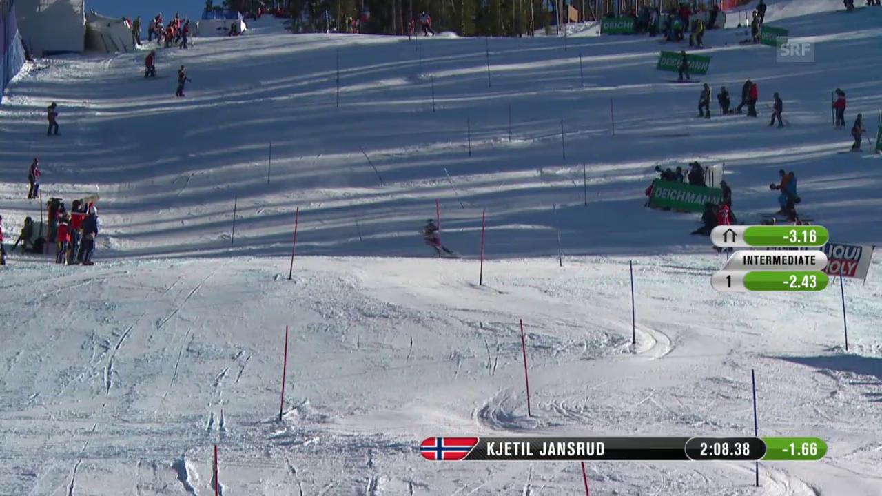 Der Slalom von Kjetil Jansrud