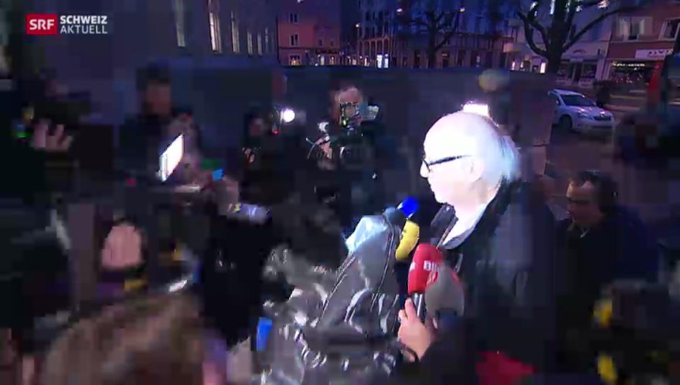 Medienaufmarsch wegen Karl Dall-Prozess