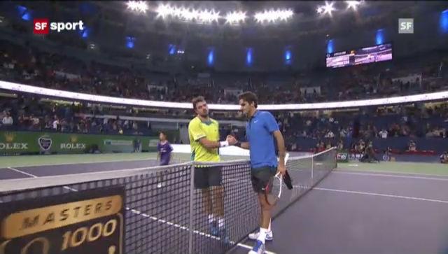 ATP Schanghai 2012: Federer - Wawrinka («sportaktuell»)