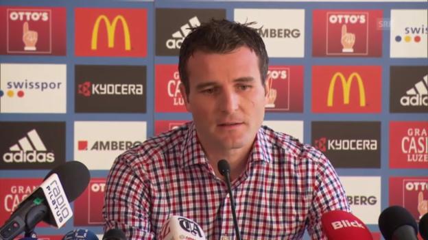 Video «Fussball: Alex Frei an der Medienkonferenz des FC Luzern zu seinem Engagement als Sportdirektor» abspielen