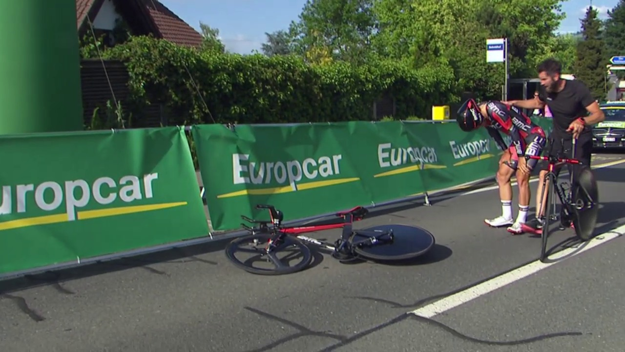 Rad: Tour de Suisse, Sturz Dillier