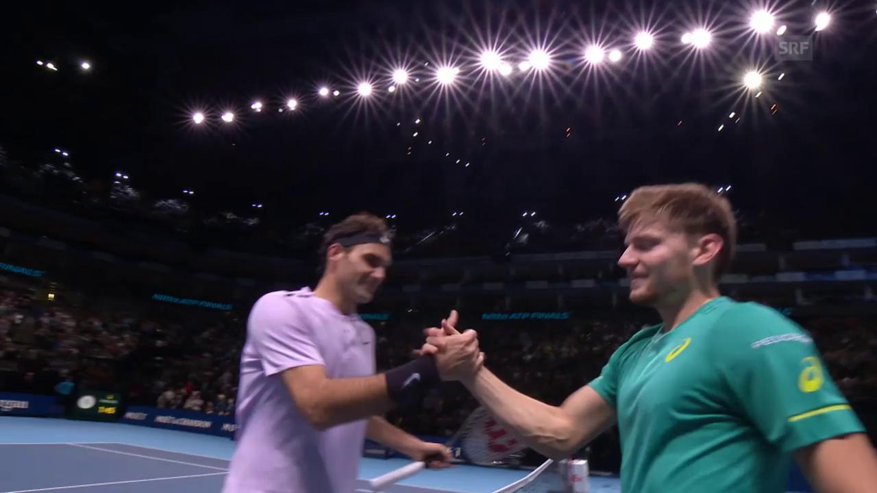 Live-Highlights bei Federer - Goffin