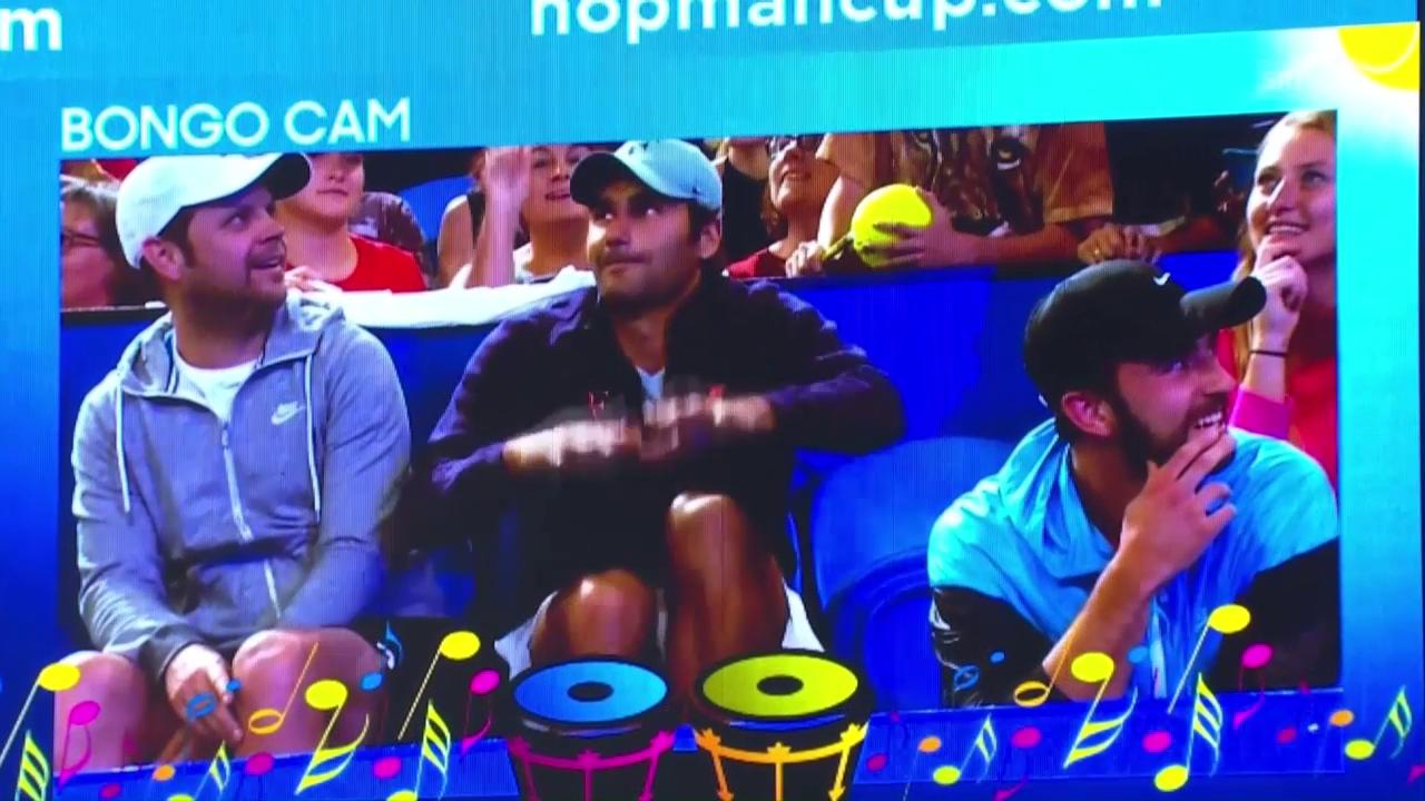 Federer brilliert bei der «Bongo-Cam»