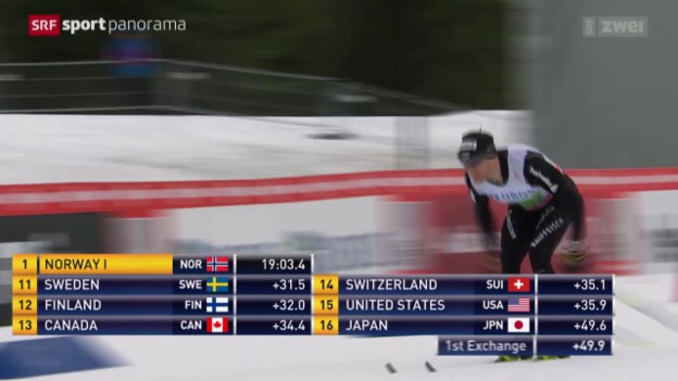 Video «Langlauf: Weltcup in Lillehammer, Staffel Männer» abspielen