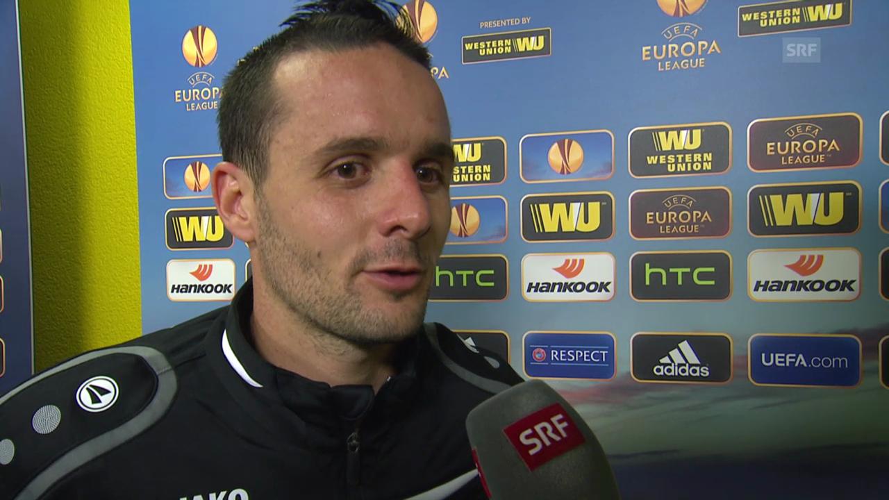 Fussball: Europa League, YB-Bratislava, Interview Nuzzolo
