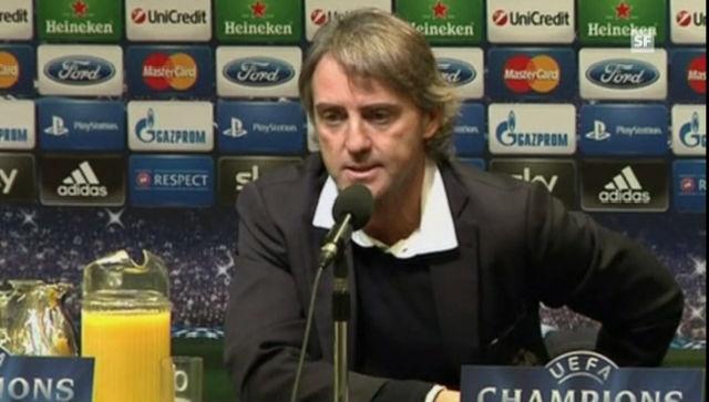 Roberto Mancini an der Medienkonferenz