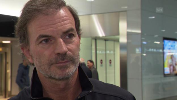 Video «Tennis: Vor Davis-Cup, Frankreich - Schweiz, Heinz Günthardt im Interview» abspielen