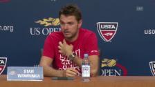 Video «Tennis: US Open, Medienkonferenz Stan Wawrinka» abspielen