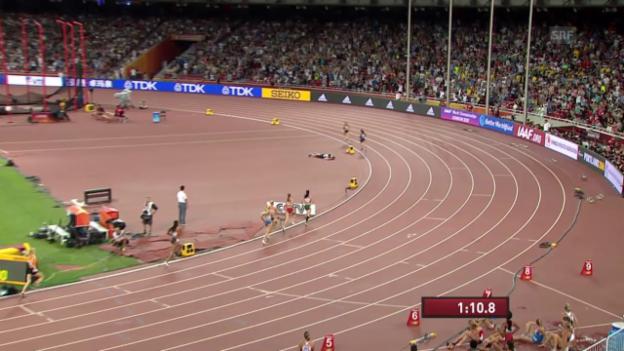 Video «Leichtathletik: WM Peking, Siebenkampf, 800 m Ennis» abspielen