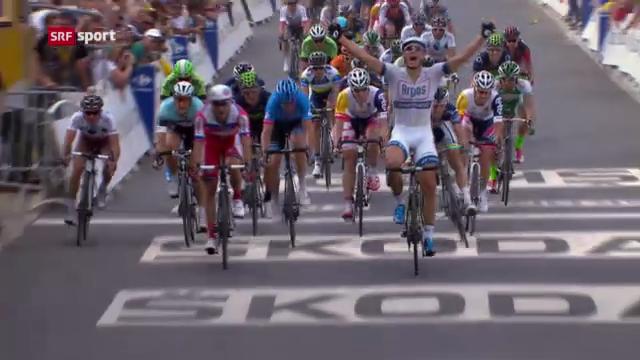 Die 1. Etappe der Tour de France