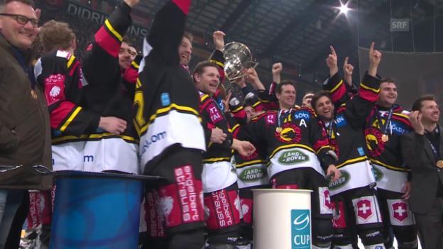 Video «Eishockey: Zusammenfassung Cupfinal Bern - Kloten» abspielen
