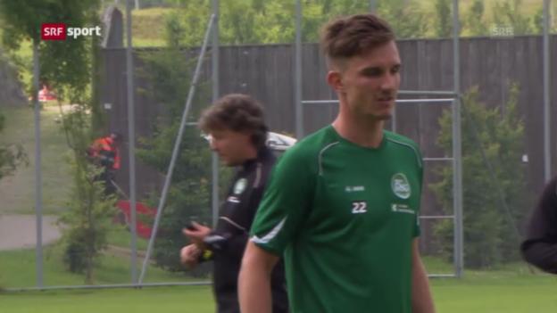 Video «Sébastien Wüthrich: St. Gallens Hoffnungsträger («sportaktuell»)» abspielen